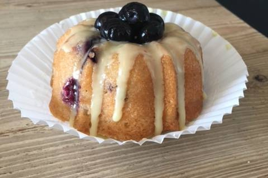 Lemon Blueberry Baby Bundt