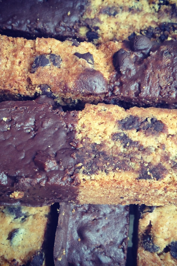 Gluten-Free Chocolate Chip Chocolate Dipped Biscotti